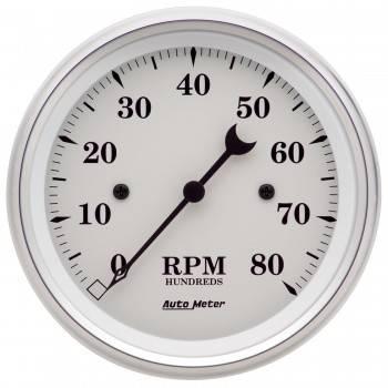 "Auto Meter - Auto Meter Old Tyme White Electric Tachometer - 3-3/8"""