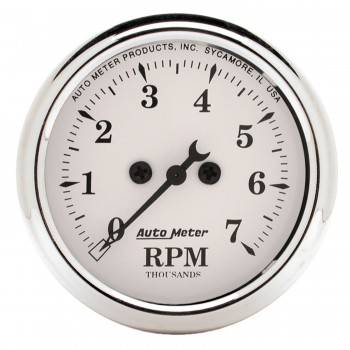 "Auto Meter - Auto Meter Old Tyme White Electric Tachometer - 2-1/16"""