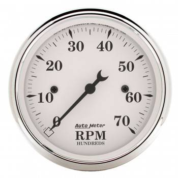 Auto Meter - Auto Meter Old Tyme White Electric Tachometer - 3-1/8""