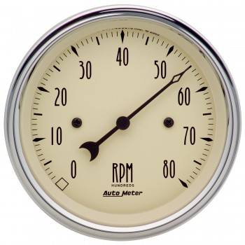 "Auto Meter - Auto Meter Antique Beige Electric Tachometer - 3-3/8"" 0-8000 RPM"