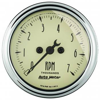 Auto Meter - Auto Meter Antique Beige Electric Tachometer - 2-1/16""
