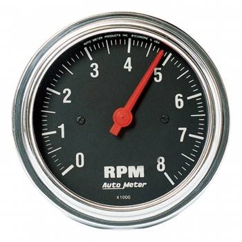 Auto Meter - Auto Meter Traditional Chrome In-Dash Electric Tachometer - 3-3/8""