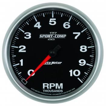 "Auto Meter - Auto Meter 5"" Sport-Comp II In-Dash Tachometer - 10,000 RPM"