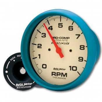 Auto Meter - Auto Meter 10,000 RPM Ultra-Nite In-Dash Memory Tachometer