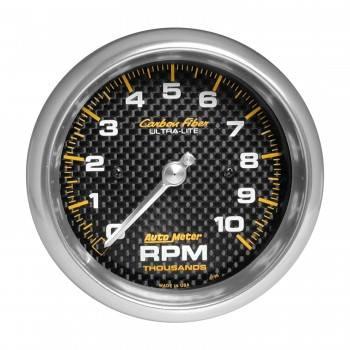 """Auto Meter - Auto Meter 10,000 RPM Carbon Fiber 3-3/8"""" In-Dash Tachometer"""