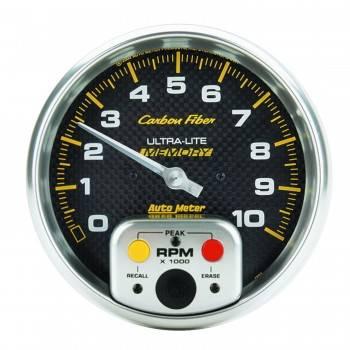 "Auto Meter - Auto Meter 10,000 RPM Carbon Fiber 5"" In-Dash Memory Tachometer w/ Peak RPM Memory"