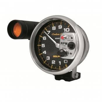 """Auto Meter - Auto Meter 10,000 RPM Carbon Fiber 5"""" Pedestal Mount Tachometer w/ Shift-Lite"""