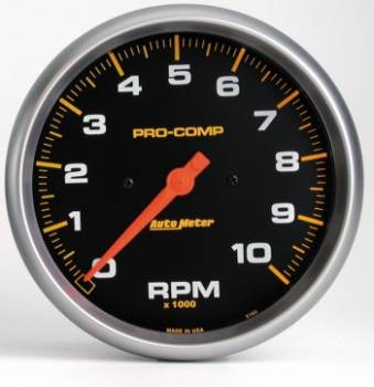 "Auto Meter - Auto Meter 10,000 RPM Pro-Comp In-Dash 5"" Monster Tachometer"