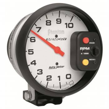"Auto Meter - Auto Meter Phantom Memory Tachometer - 5"" - 10,000 RPM Pedestal Mount"
