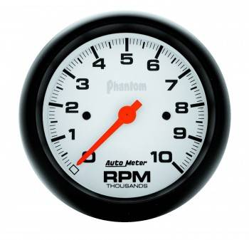 "Auto Meter - Auto Meter 3-3/8"" Phantom In-Dash Single Range Tachometer - 10000 RPM"