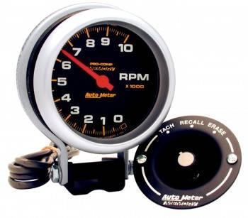 "Auto Meter - Auto Meter 10,000 RPM Pro-Comp Memory Tachometer - 3-3/4"""
