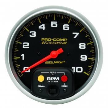 "Auto Meter - Auto Meter 10,000 RPM Water Resistant 5"" In-Dash Memory Tachometer"