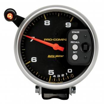 "Auto Meter - Auto Meter 9,000 RPM Pro-Comp II 5"" Dual Range Tachometer"