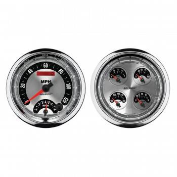 Auto Meter - Auto Meter American Muscle Quad Gauge / Tach / Speedometer Kit - 5 in.