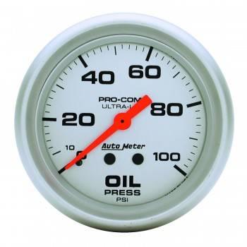 "Auto Meter - Auto Meter Ultra-Lite Oil Pressure Gauge - 2-5/8"" - 0-100 PSI"