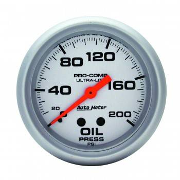 "Auto Meter - Auto Meter Ultra-Lite Oil Pressure Gauge - 2-5/8"" - 0-200 PSI"