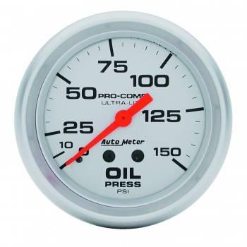 "Auto Meter - Auto Meter Ultra-Lite Oil Pressure Gauge - 2-5/8"" - 0-150 PSI"