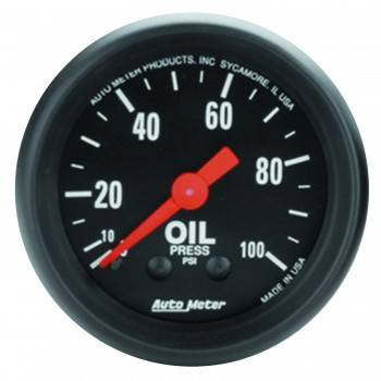 Auto Meter - Auto Meter Z Series 2-1/16 Oil Pressure Gauge - 0-100 PSI