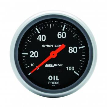 "Auto Meter - Auto Meter 0-100 PSI Sport-Comp Oil Pressure Gauge - 2-5/8"""