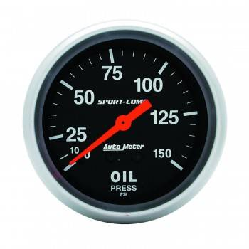"Auto Meter - Auto Meter 0-150 PSI Sport-Comp Oil Pressure Gauge - 2-5/8"""