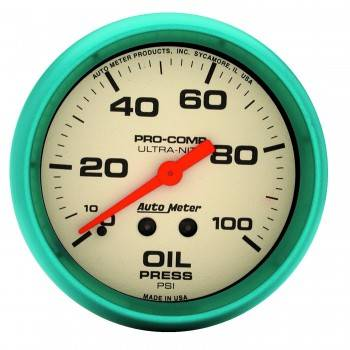 "Auto Meter - Auto Meter Ultra-Nite Oil Pressure Gauge - 2-5/8"" - 0-100 PSI"