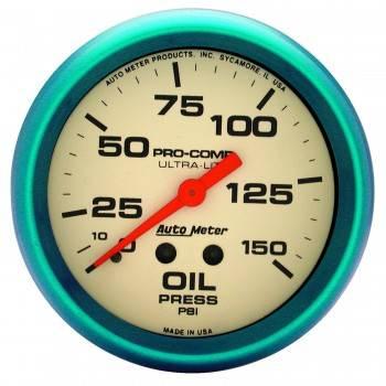 "Auto Meter - Auto Meter Ultra-Nite Oil Pressure Gauge - 2-5/8"" - 0-150 PSI"