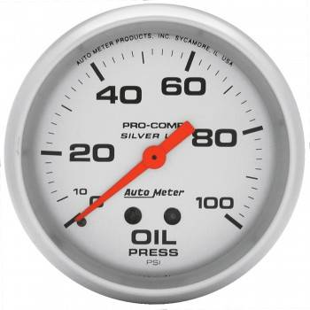 "Auto Meter - Auto Meter Liquid-Filled Oil Pressure Gauges - 2-5/8"" - 0-100 PSI"