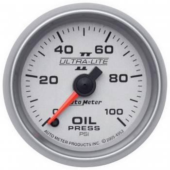 "Auto Meter - Auto Meter Ultra-Lite II Electric Oil Pressure Gauge - 2-1/16"""