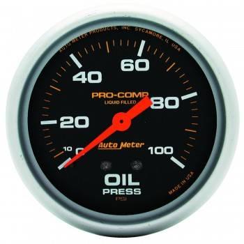 """Auto Meter - Auto Meter Pro-Comp Liquid Filled Oil Pressure Gauge - 2-5/8"""" - 0-100 PSI"""