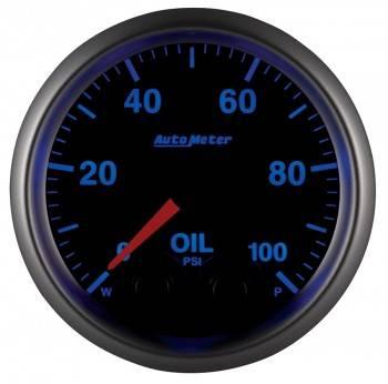 "Auto Meter - Auto Meter Elite Series Oil Pressure Gauge - 2-1/16"""