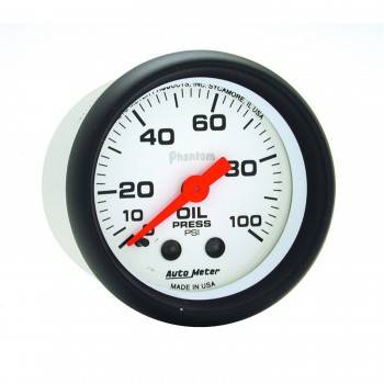 "Auto Meter - Auto Meter Phantom 2-1/16"" Oil Pressure Gauge - 0-100 PSI"