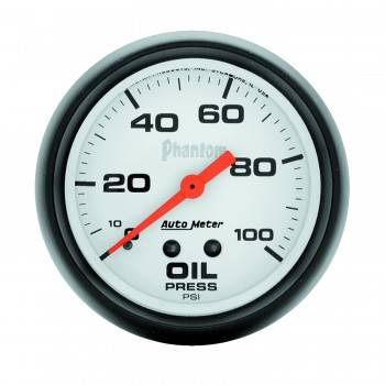 "Auto Meter - Auto Meter Phantom Oil Pressure Gauge - 2-5/8"" - 0-100 PSI"