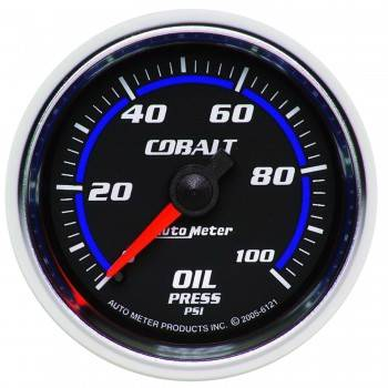 Auto Meter - Auto Meter Cobalt Mechanical Oil Pressure Gauge - 2-1/16""