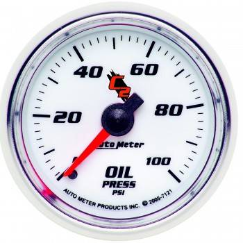 Auto Meter - Auto Meter C2 Mechanical Oil Pressure Gauge - 2-1/16""