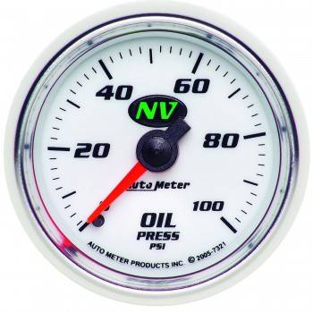 Auto Meter - Auto Meter NV Mechanical Oil Pressure Gauge - 2-1/16""