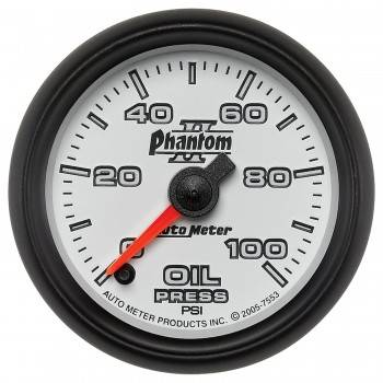 Auto Meter - Auto Meter Phantom II Electric Oil Pressure Gauge - 2-1/16""