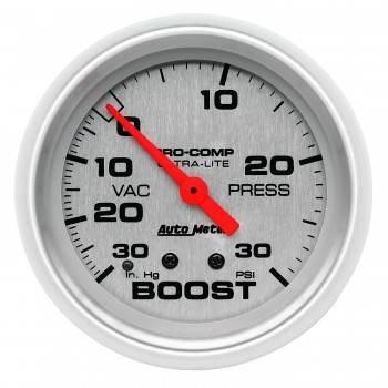 Auto Meter - Auto Meter Ultra-Lite Mechanical Boost / Vacuum Gauge - 2-5/8 in.