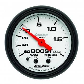 Auto Meter - Auto Meter Phantom Mechanical Boost / Vacuum Gauge - 2-1/16 in.