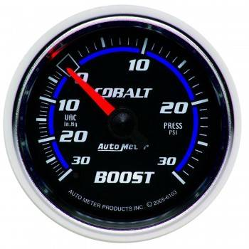 Auto Meter - Auto Meter Cobalt Mechanical Boost / Vacuum Gauge - 2-1/16 in.
