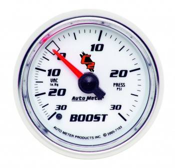 Auto Meter - Auto Meter C2 Mechanical Boost / Vacuum Gauge - 2-1/16 in.
