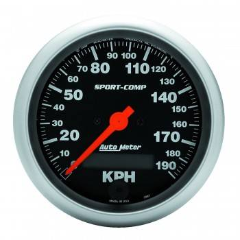 Auto Meter - Auto Meter Sport-Comp Electric Metric Speedometer - 3-3/8 in.