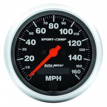 Auto Meter - Auto Meter Sport-Comp Electric Programmable Speedometer - 3-3/8 in.