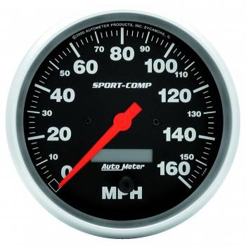 Auto Meter - Auto Meter Sport-Comp Electric Programmable Speedometer - 5 in.