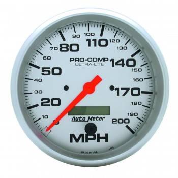 Auto Meter - Auto Meter Ultra-Lite In-Dash Electric Speedometer - 5 in.