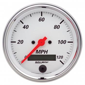 Auto Meter - Auto Meter Arctic White Electric Programmable Speedometer - 3-3/8 in.