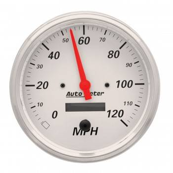 Auto Meter - Auto Meter Arctic White Electric Programmable Speedometer - 5 in.
