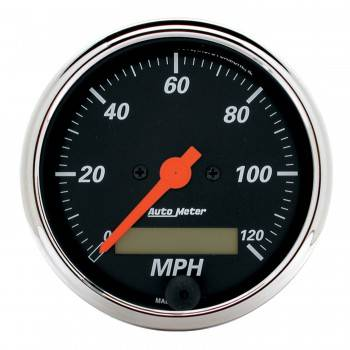 Auto Meter - Auto Meter 3-1/8 Designer Black Street Rod Speedo