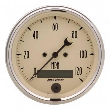 Auto Meter - Auto Meter Antique Beige Electric Programmable Speedometer - 3-3/8 in.