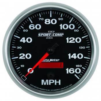 Auto Meter - Auto Meter Sport-Comp II Programmable Speedometer - 5 in.