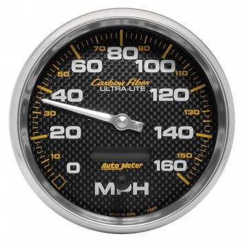 Auto Meter - Auto Meter Carbon Fiber In-Dash Electric Speedometer - 5 in.